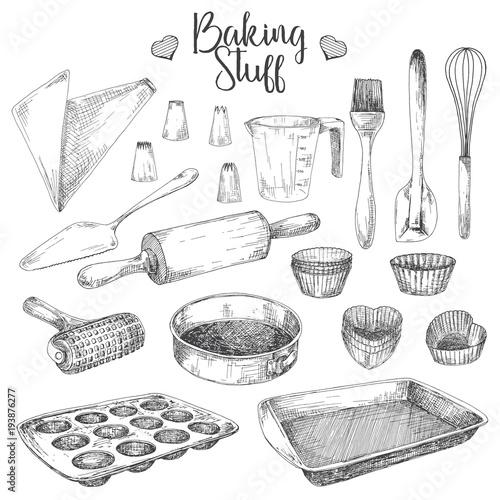 Obraz na płótnie Set of dishes for baking
