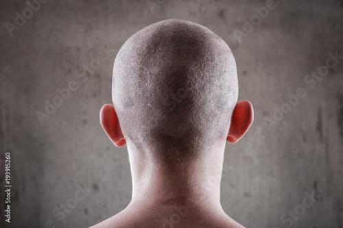 Fotografia, Obraz Young man with a shaved head