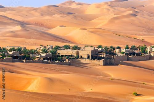 Desert resort landscape.