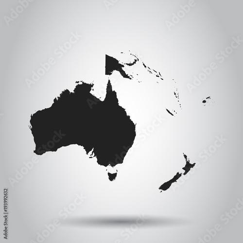 Canvas Print Australia and oceania map icon