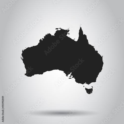 Wallpaper Mural Australia map icon