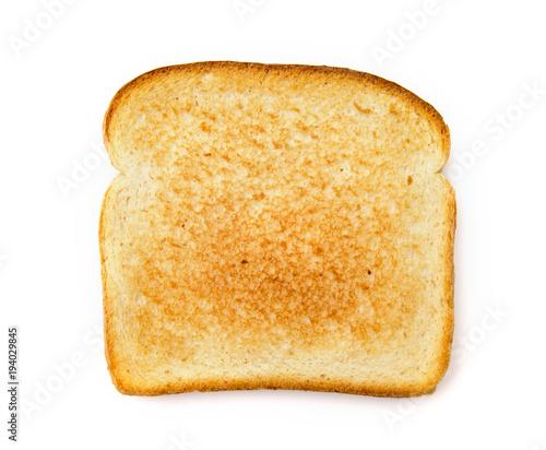 фотография Slighty Golden Toast on a White Background