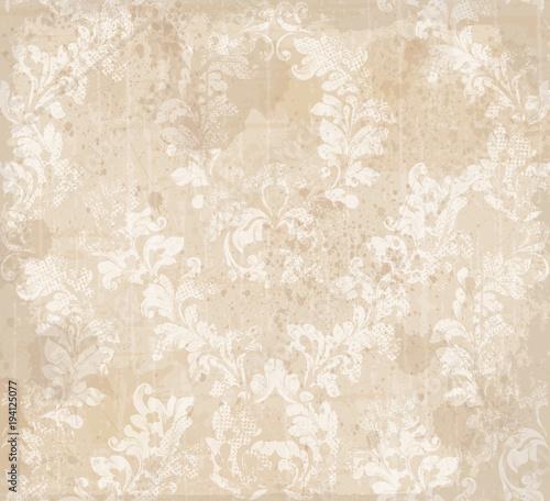 Fototapeta Damask ornament pattern texture Vector