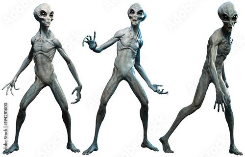 Grey aliens Fototapete