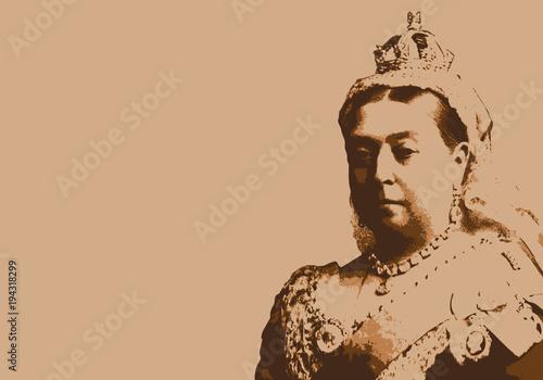 Obraz na plátně Reine Victoria - reine - portrait - reine d'Angleterre - personnage historique -