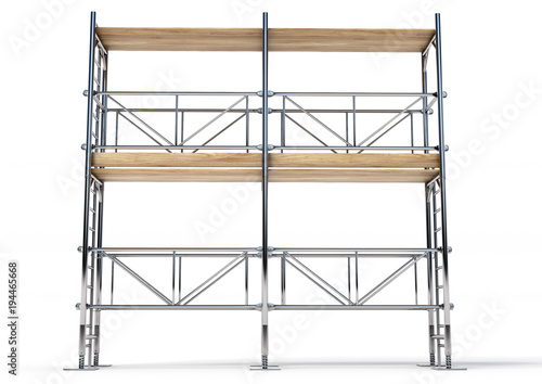 Photo A scaffold illustration made in 3D software.
