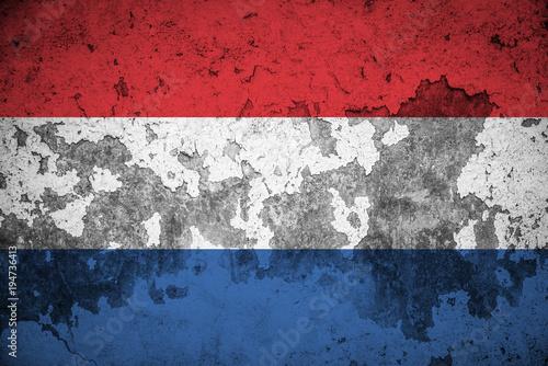 Fototapeta Dutch flag grunge texture