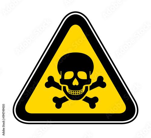 Canvas-taulu Triangular Warning Hazard Symbol