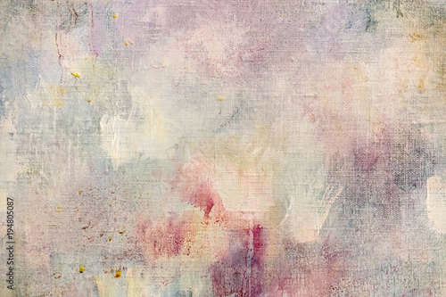 weathered abstract art background with paint splashes and blots Fototapet