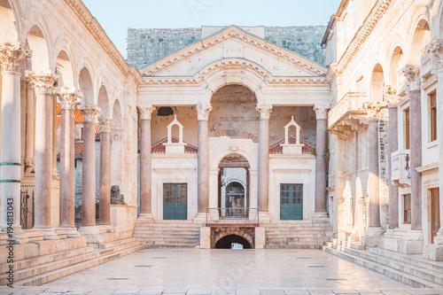 Obraz na plátně Ancient palace built for the Roman Emperor Diocletian - Split, Croatia