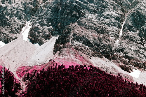 Wallpaper Mural A view of alp mountains in switzerland in color infrared