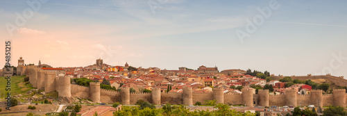 Fortification of the town of Avila in Spain Europe.