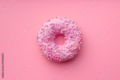 Pink sweet donut. фототапет