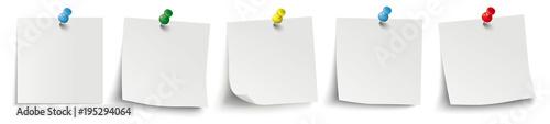 Fotografia 5 White Sticks Colored Pins Header