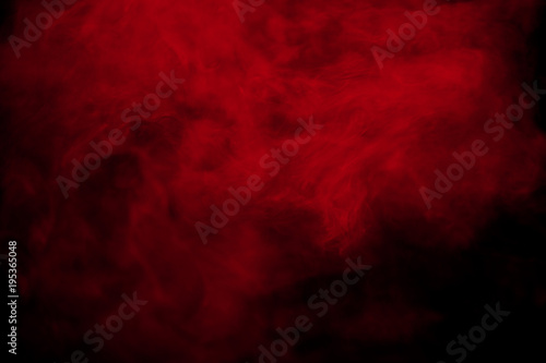Tablou Canvas Abstract red smoke on black  background. Red color clouds.