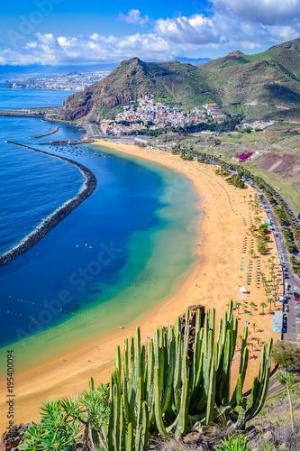 Canvas Print Las Teresitas, Tenerife,Canary islands,Spain: Playa de Las Teresitas, a famous b
