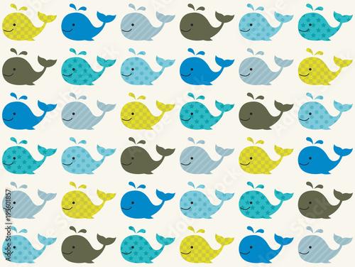 Fototapeta premium wzór wieloryba bez szwu