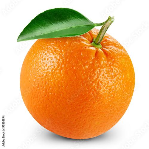orange fruits with leaf
