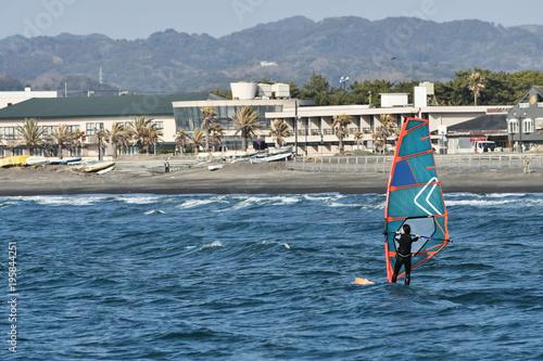 館山湾のウィンドサーフィン