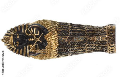 mummy of the pharaoh on a white isolated background Fototapeta