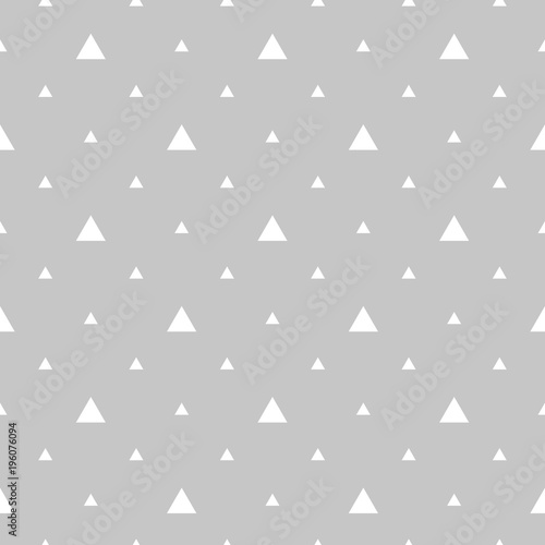Abstract geometric pattern. A seamless vector background. White and grey ornament. Graphic modern pattern,