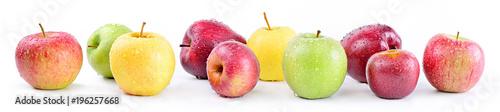 Apple varieties: annurca, stark delicious, fuji, granny smith, golden delicious, royal gala
