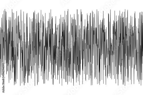 Canvas Print SeismogramSeismic, earthquake activity record