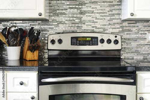 Fotografija Stove closeup in modern kitchen interior.