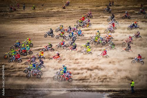 Start of the motocross race
