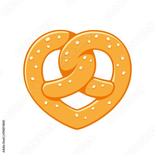 Canvas Print Heart shaped pretzel