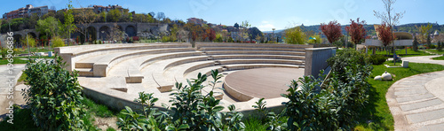 Fotografia scene of an amphitheater in the open air