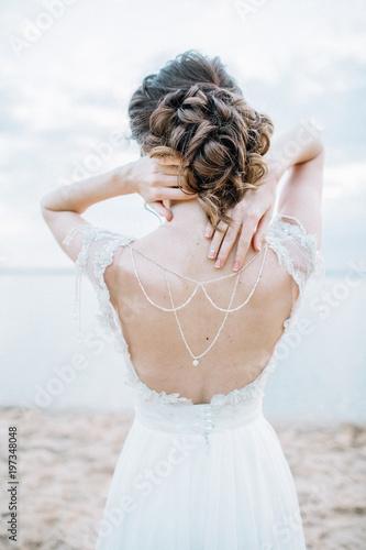Obraz na płótnie Young pretty woman in elegant dress