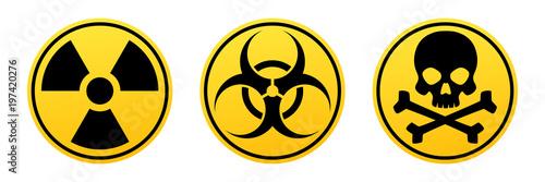 Valokuvatapetti Danger yellow vector signs