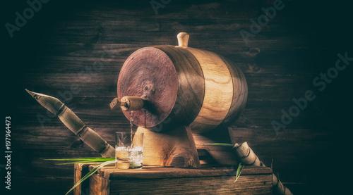 Sugarcane liquor (Traditional Brazilian cachaça). Alcoholic beverage made from sugar cane