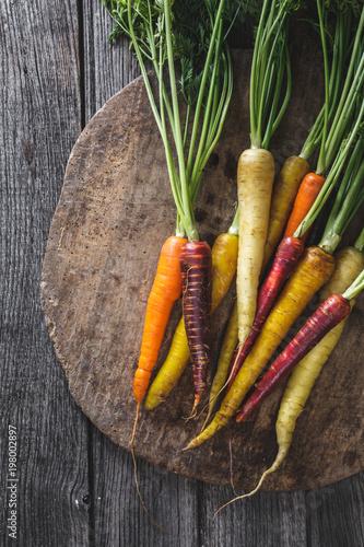 Carottes colorées, Légumes du Printemps