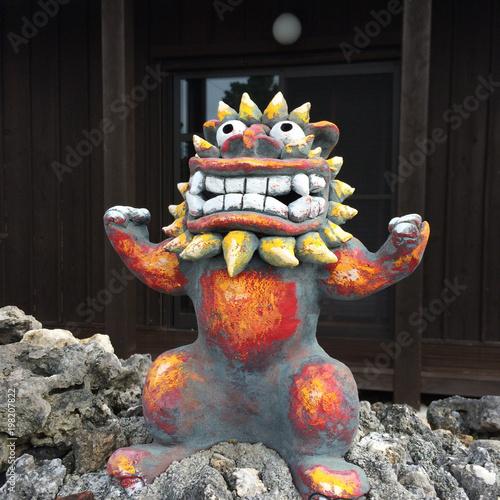 Photo Guardian lion - Okinawa - Japan