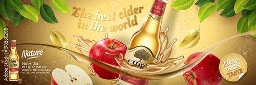 Apple cider ads Fototapete