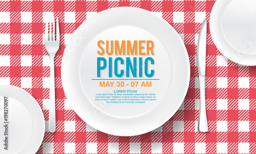 Photo vector summer picnic design