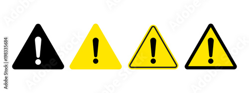 Fotografie, Obraz Exclamation mark of warning attention icon