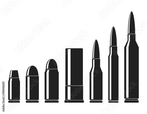 Fototapeta Cartridges icons vector set