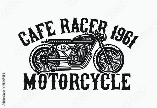 Valokuvatapetti Monochrome cafe racer motorcycle