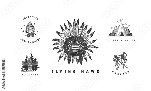 Fotografia Native American Set