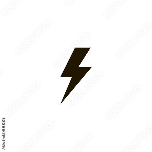 Wallpaper Mural lightning icon. sign design