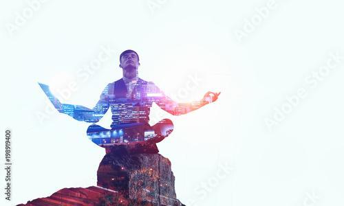 Photo Finding inner balance. Mixed media