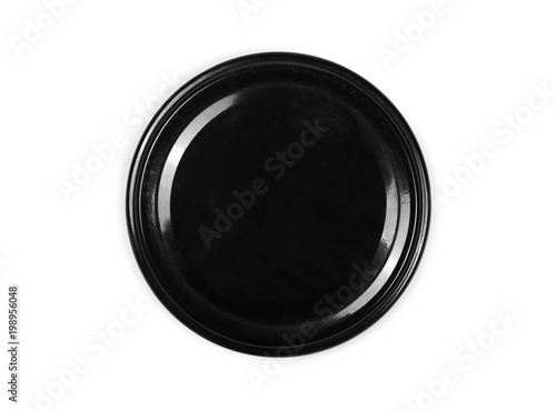 Juice bottle lid isolated on white background, top view