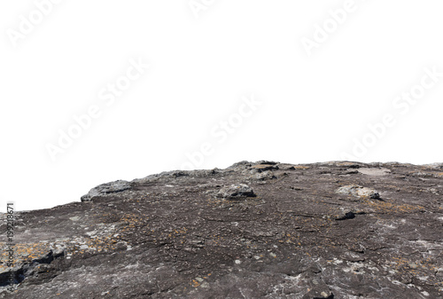 Cliff stone isolated on white background. Fototapet