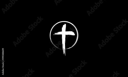 Obraz na płótnie cross logo