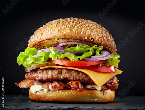 fresh tasty burger Fototapet