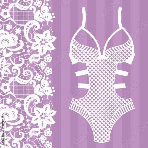 Foto Body. Lingerie. Lacy lingerie