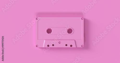 Pink Cassette Tape 3d illustration Fototapeta